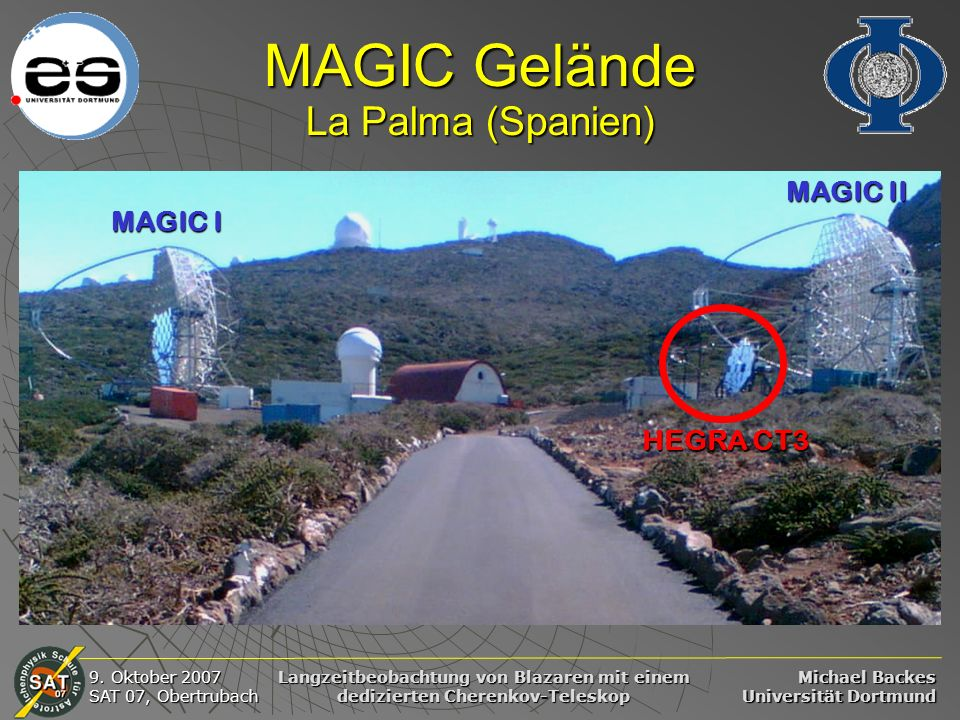 MAGIC Gelände La Palma (Spanien)
