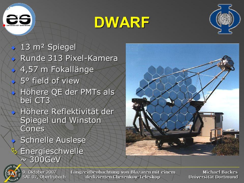 DWARF 13 m² Spiegel Runde 313 Pixel-Kamera 4,57 m Fokallänge