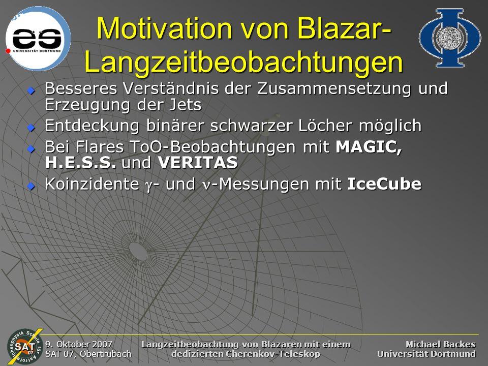Motivation von Blazar-Langzeitbeobachtungen