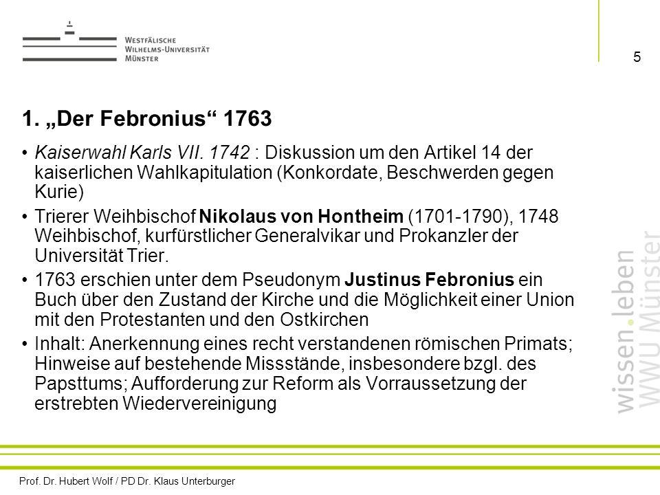 """1. """"Der Febronius 1763"""
