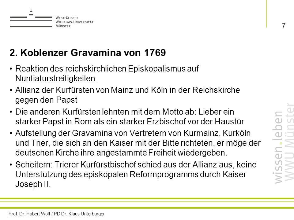 2. Koblenzer Gravamina von 1769