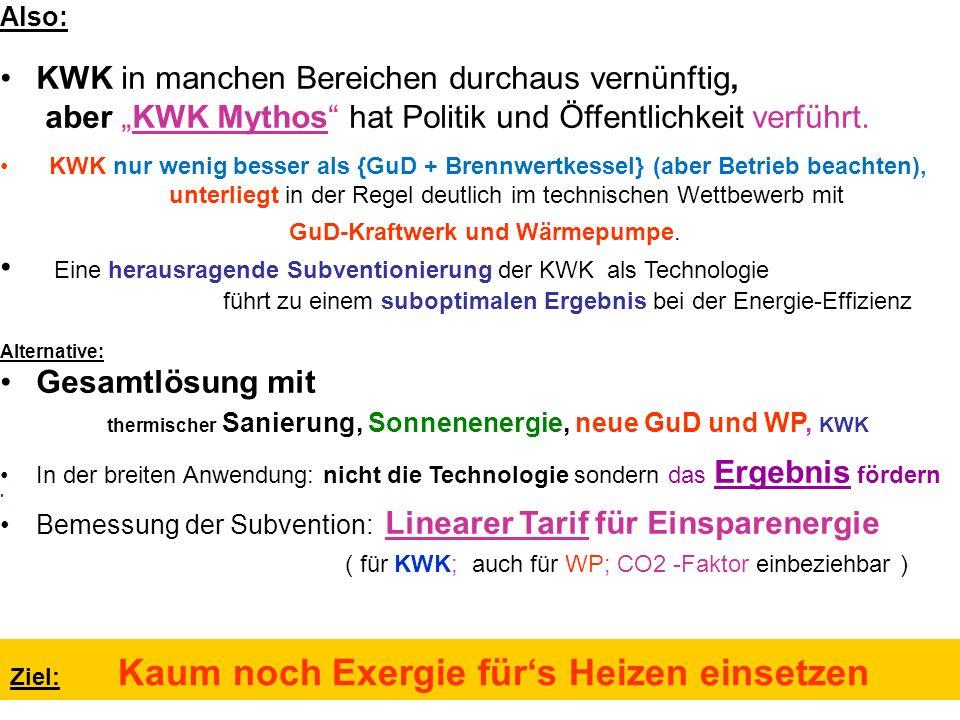 """Also: KWK in manchen Bereichen durchaus vernünftig, aber """"KWK Mythos hat Politik und Öffentlichkeit verführt."""