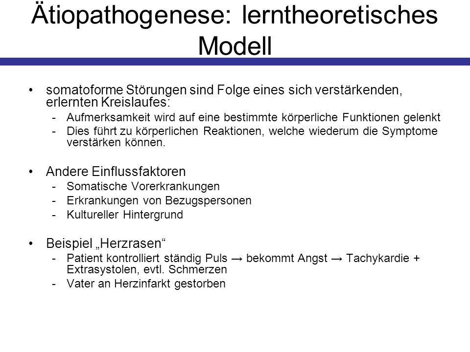Ätiopathogenese: lerntheoretisches Modell