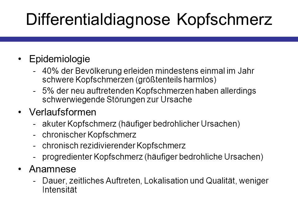 Differentialdiagnose Kopfschmerz