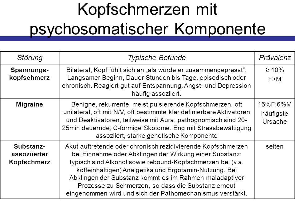 Kopfschmerzen mit psychosomatischer Komponente