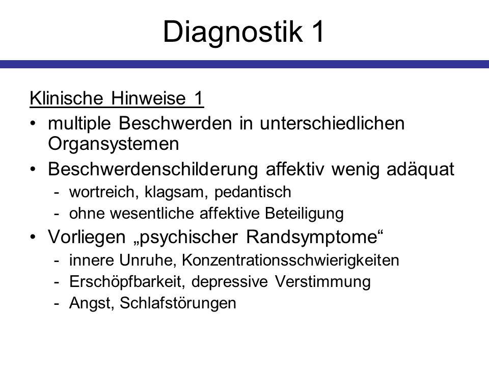 Diagnostik 1 Klinische Hinweise 1