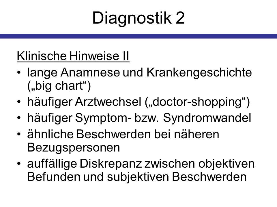 Diagnostik 2 Klinische Hinweise II