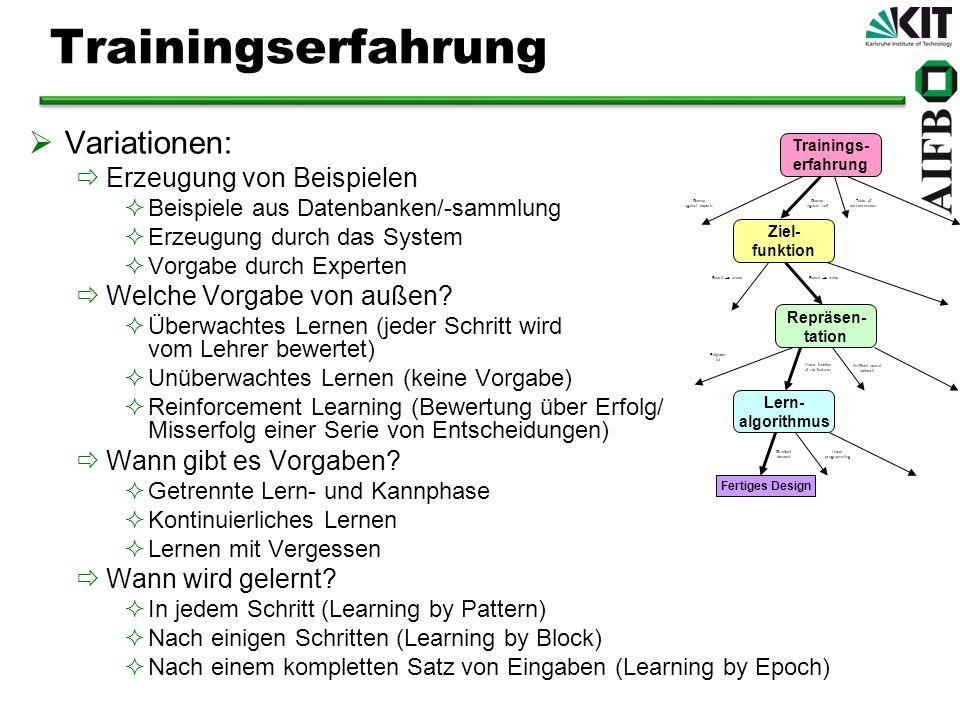 Trainingserfahrung Variationen: Erzeugung von Beispielen