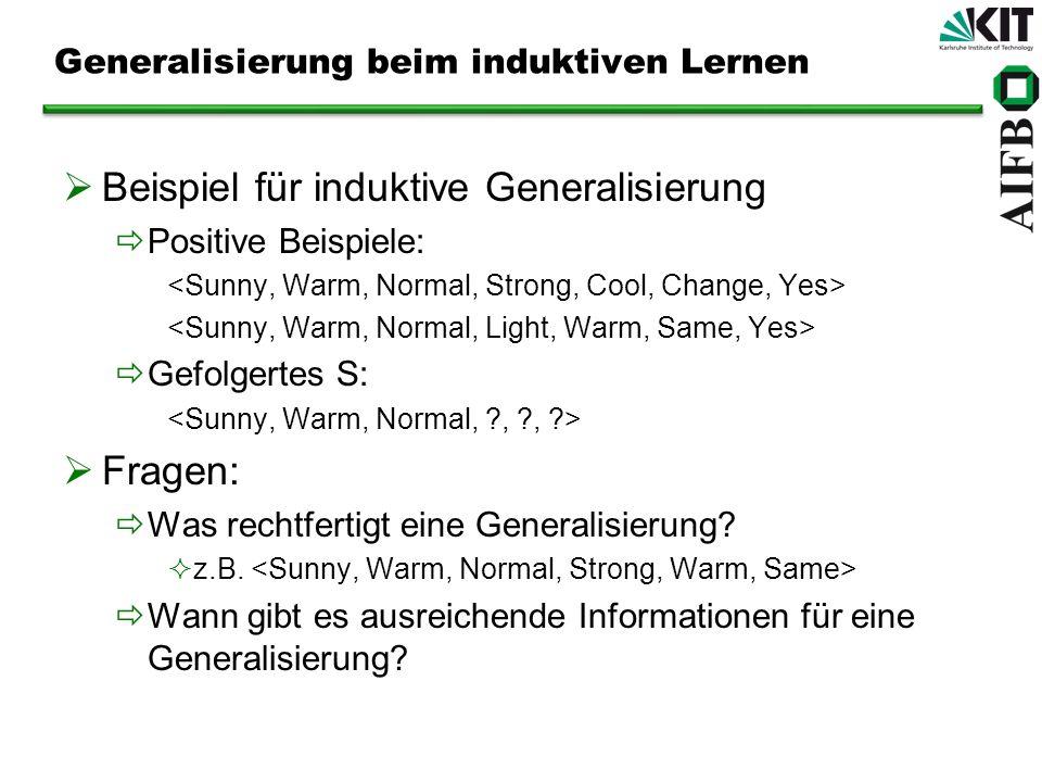 Generalisierung beim induktiven Lernen