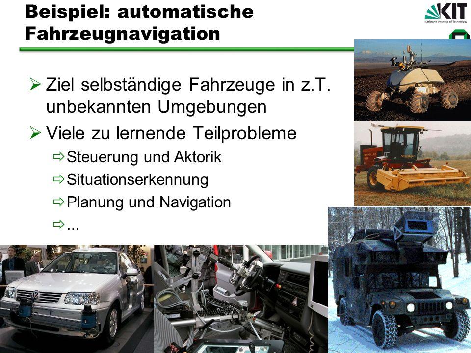 Beispiel: automatische Fahrzeugnavigation