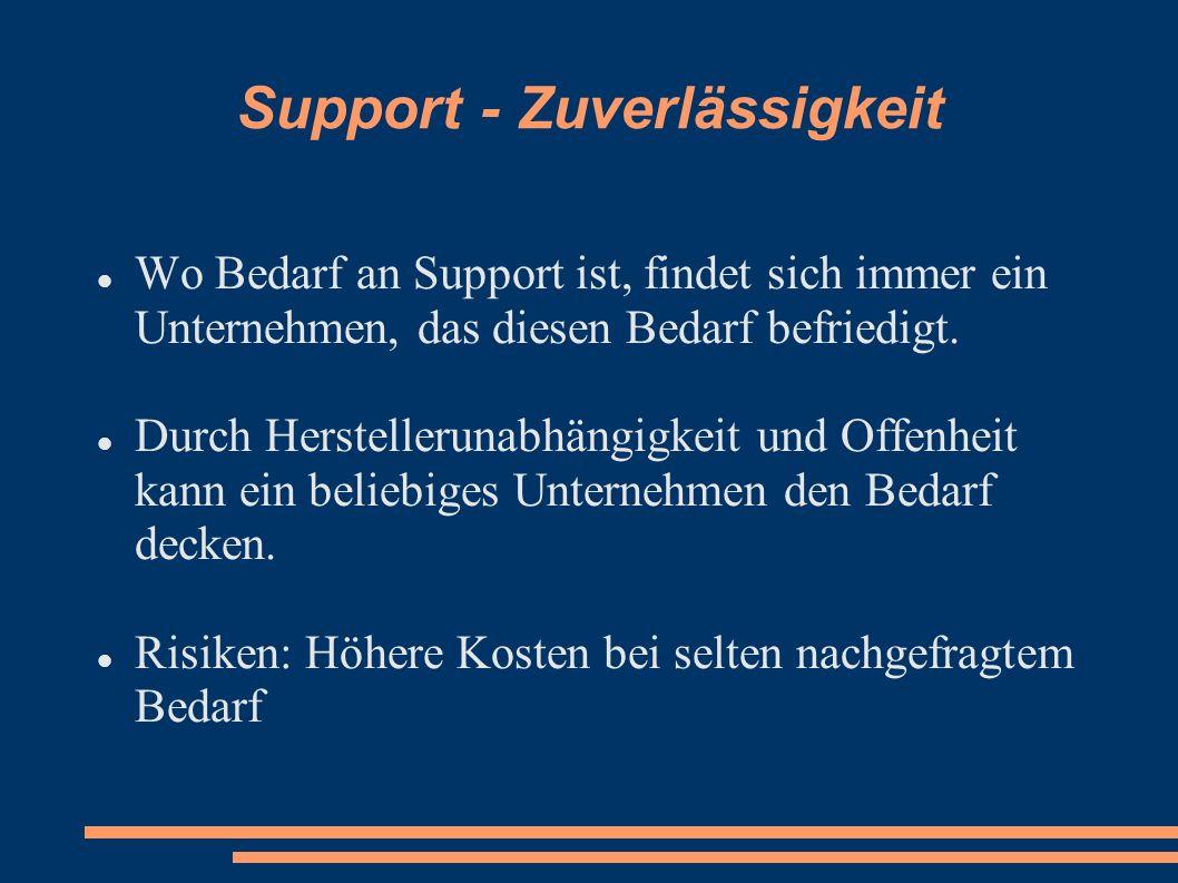 Support - Zuverlässigkeit
