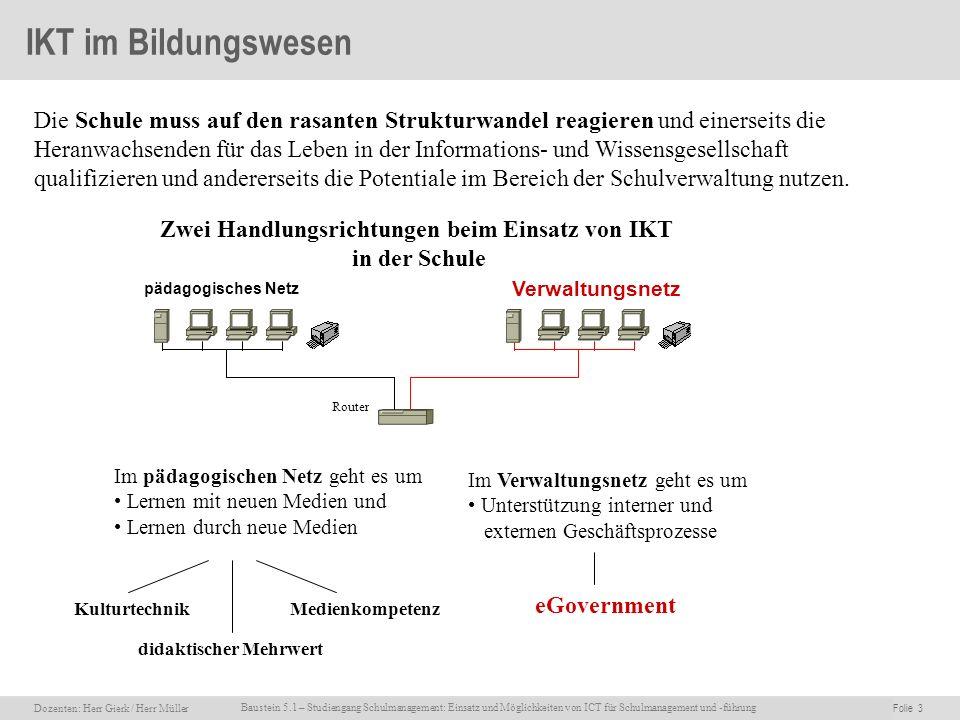 Zwei Handlungsrichtungen beim Einsatz von IKT