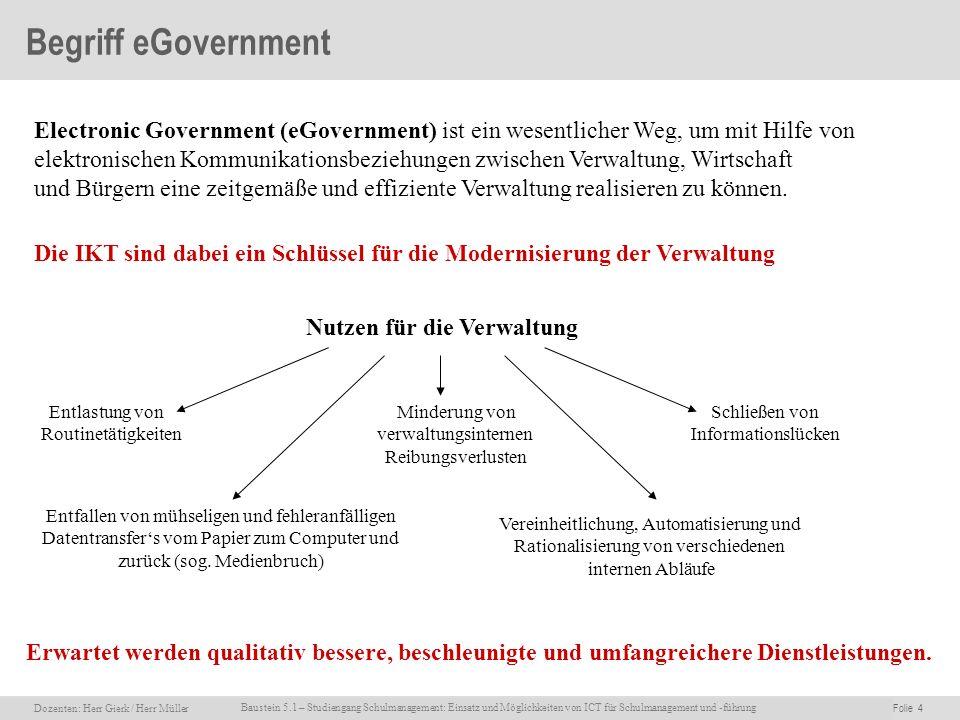 Begriff eGovernment Electronic Government (eGovernment) ist ein wesentlicher Weg, um mit Hilfe von.