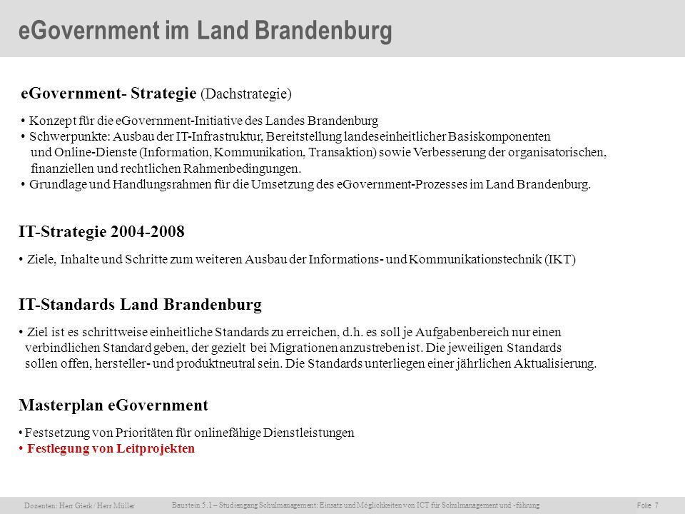 eGovernment im Land Brandenburg