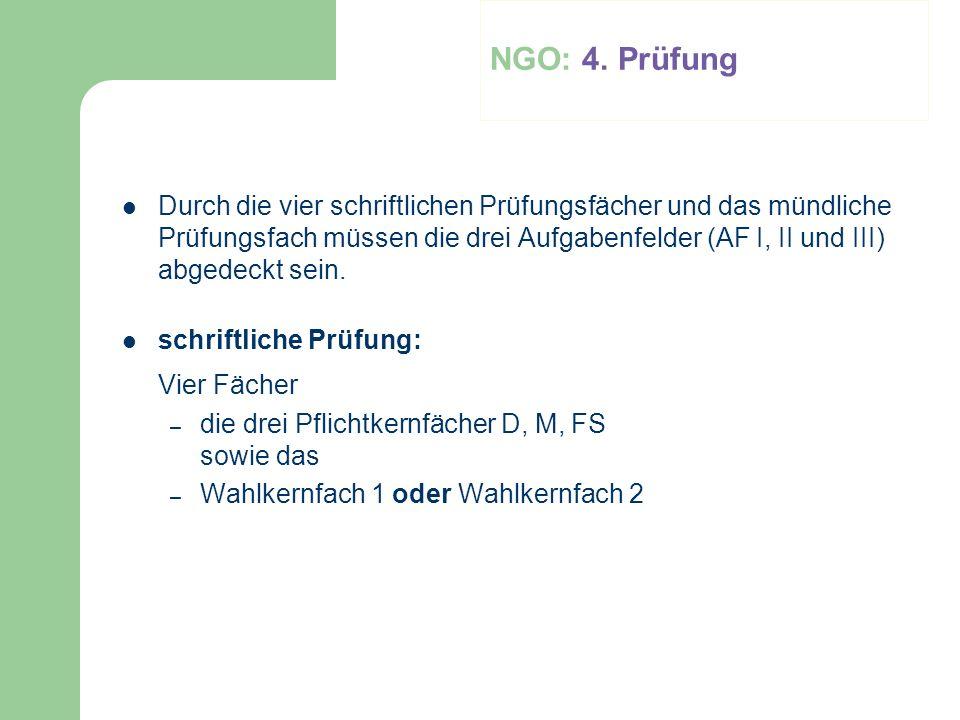 NGO: 4. Prüfung