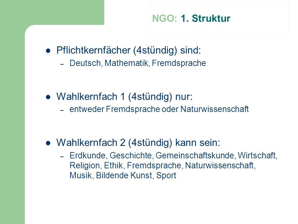 Pflichtkernfächer (4stündig) sind:
