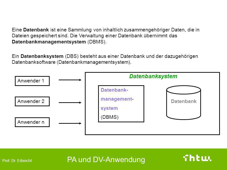 Datenbanken (data base)