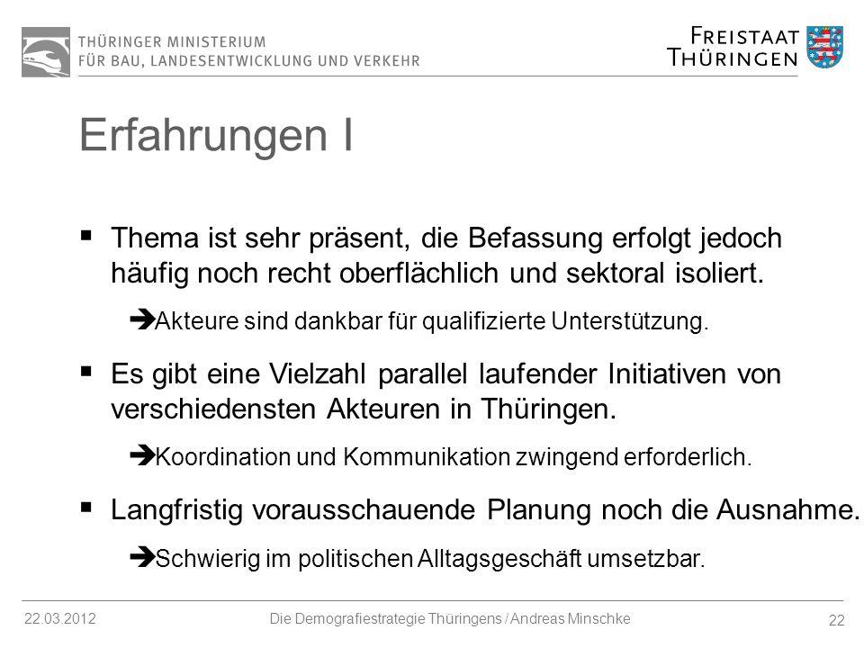 Die Demografiestrategie Thüringens / Andreas Minschke