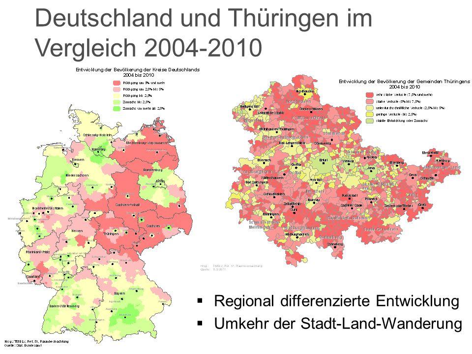 Deutschland und Thüringen im Vergleich 2004-2010