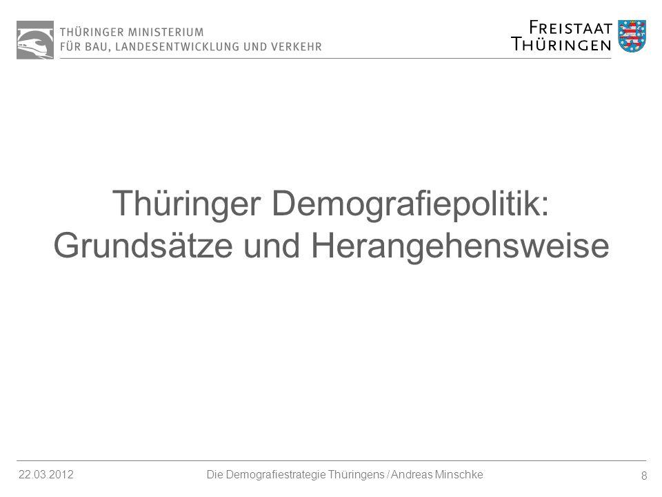 Thüringer Demografiepolitik: Grundsätze und Herangehensweise
