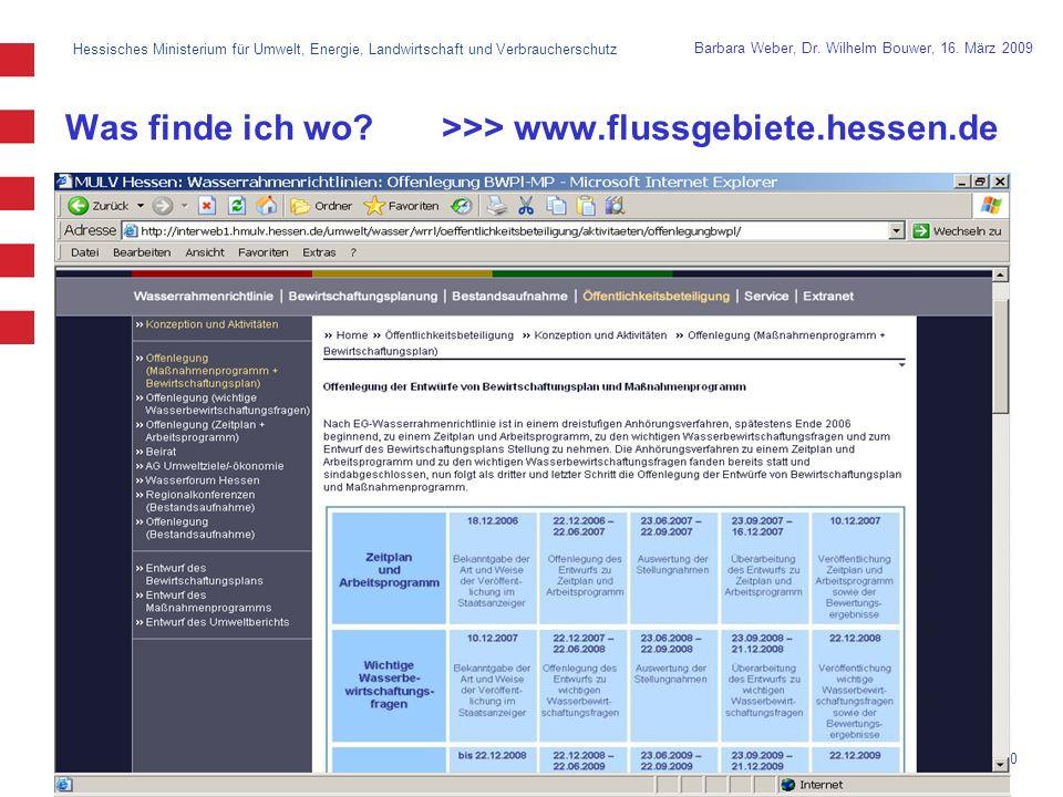 Was finde ich wo >>> www.flussgebiete.hessen.de
