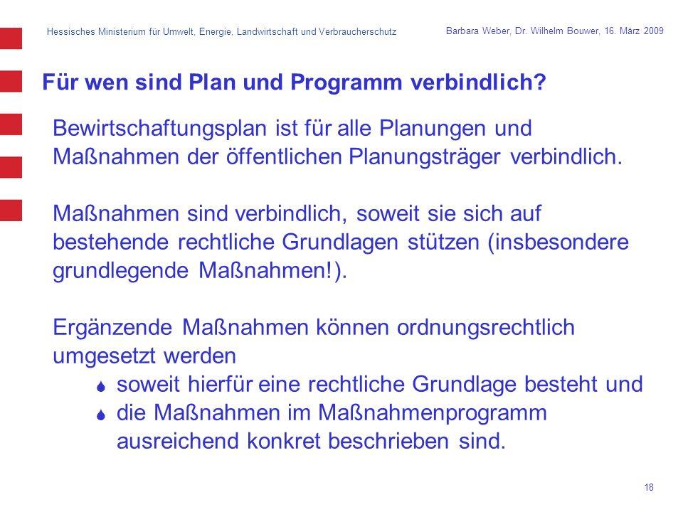 Für wen sind Plan und Programm verbindlich