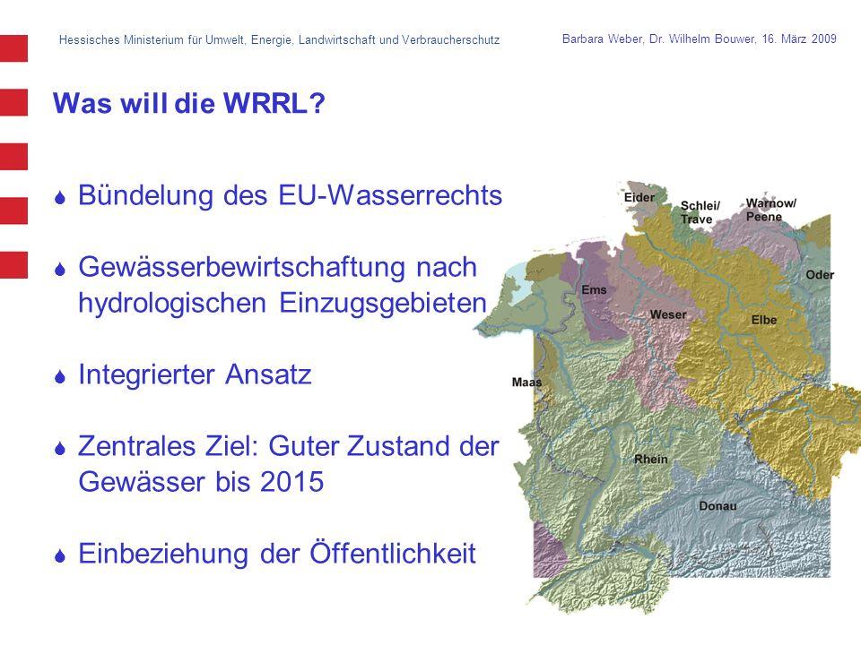 Bündelung des EU-Wasserrechts