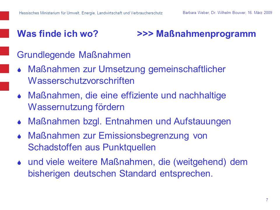 Was finde ich wo >>> Maßnahmenprogramm