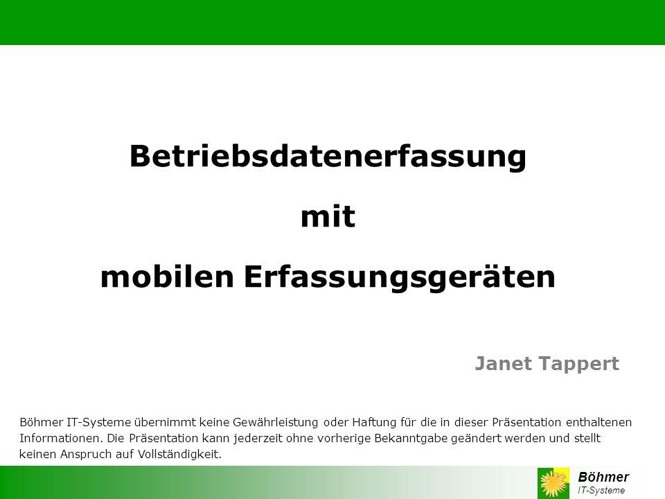 Betriebsdatenerfassung mobilen Erfassungsgeräten