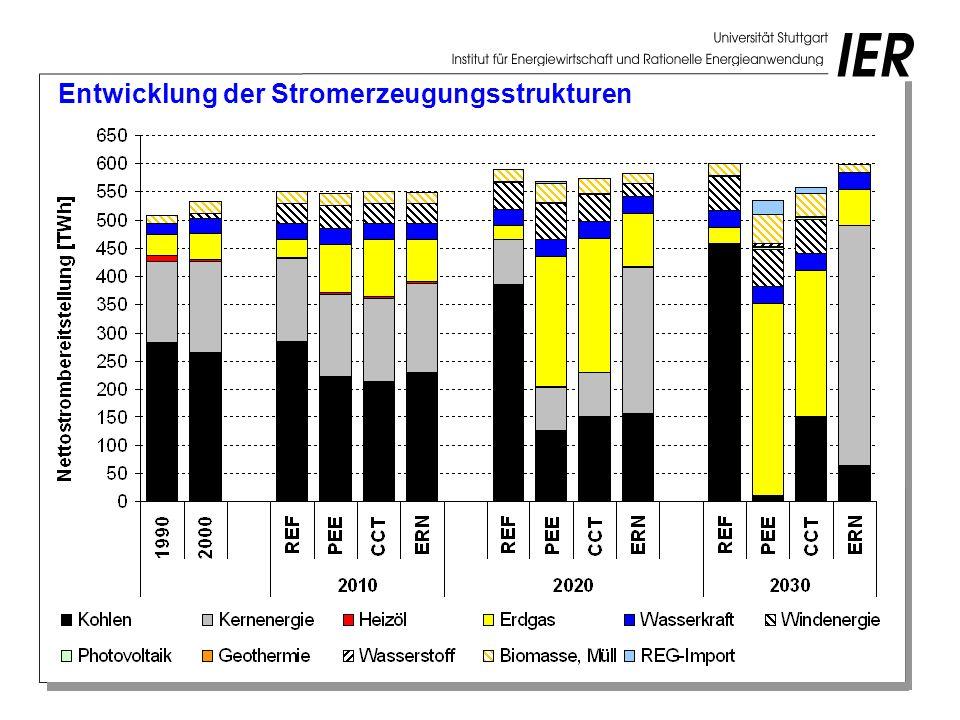 Entwicklung der Stromerzeugungsstrukturen