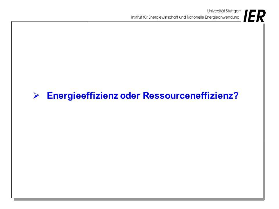 Energieeffizienz oder Ressourceneffizienz