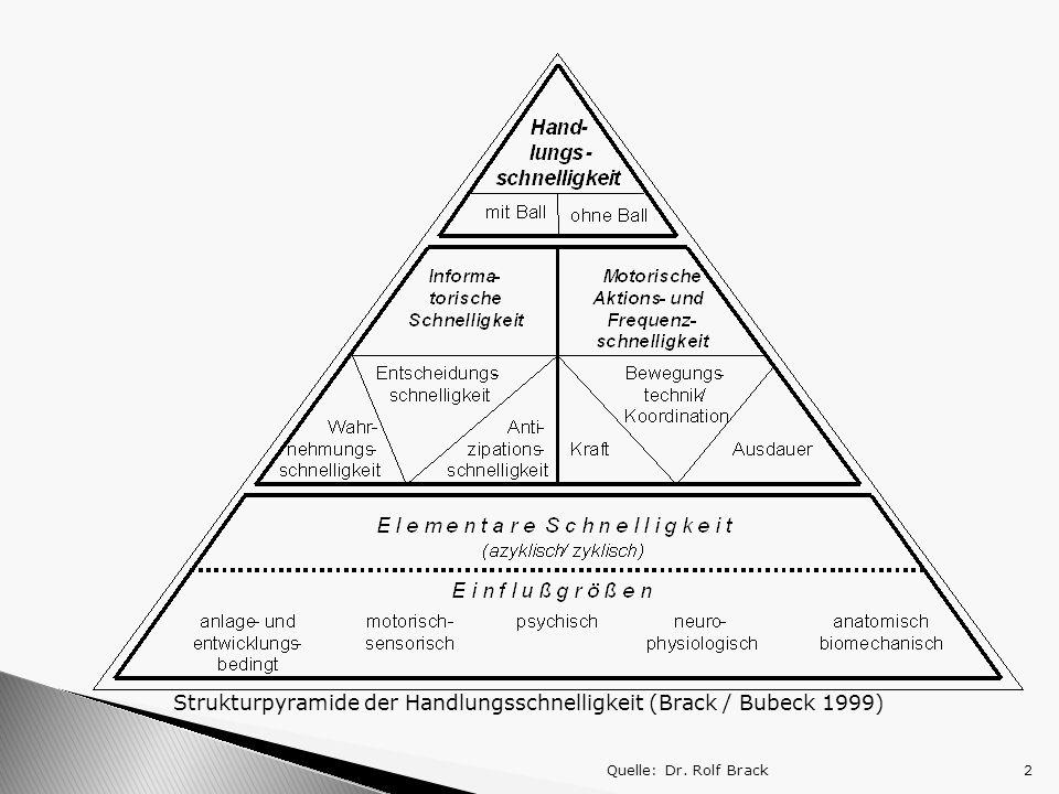 Strukturpyramide der Handlungsschnelligkeit (Brack / Bubeck 1999)