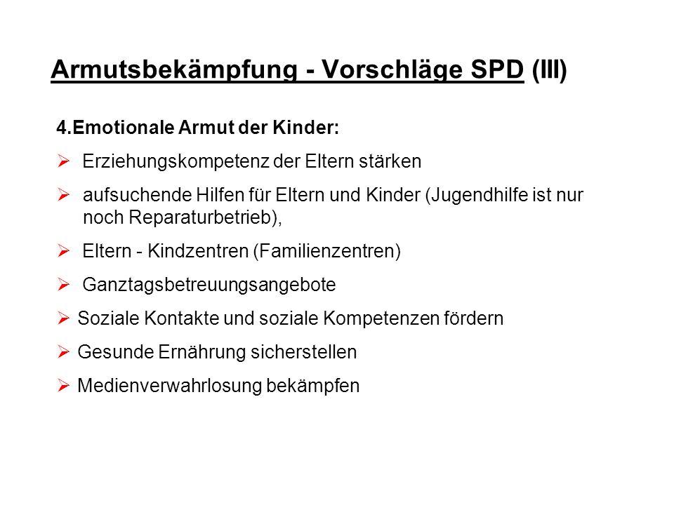 Armutsbekämpfung - Vorschläge SPD (III)