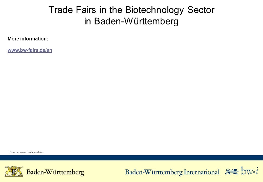 Trade Fairs in the Biotechnology Sector in Baden-Württemberg
