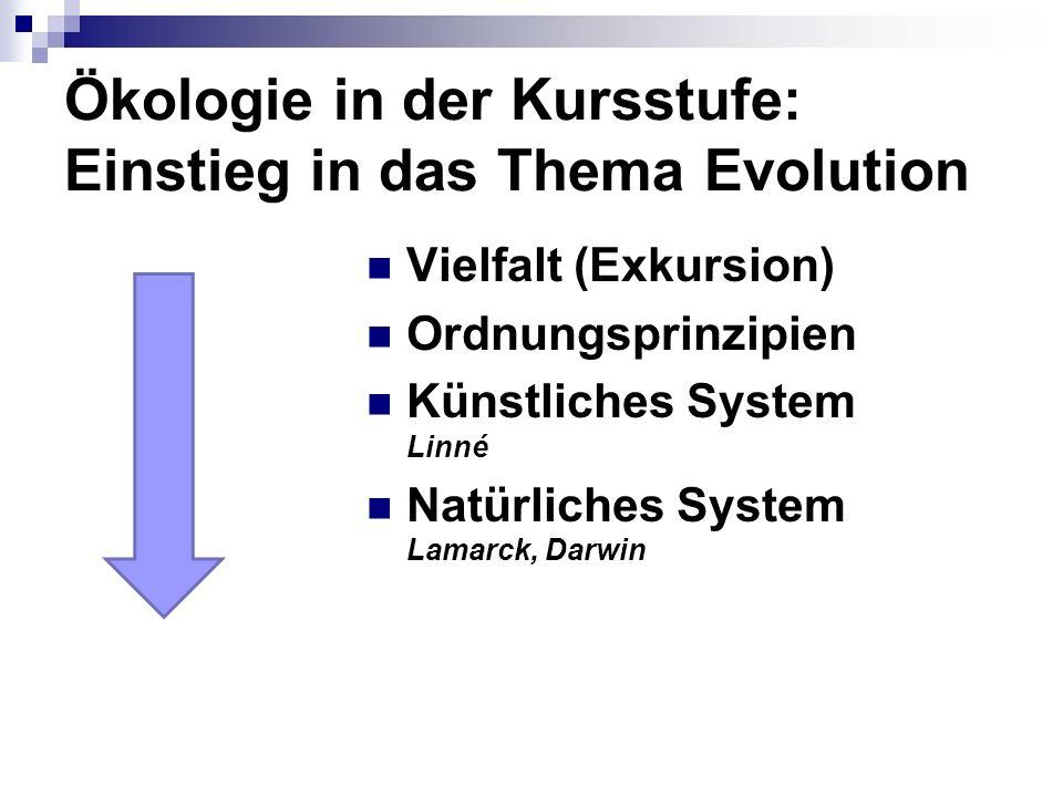 Ökologie in der Kursstufe: Einstieg in das Thema Evolution