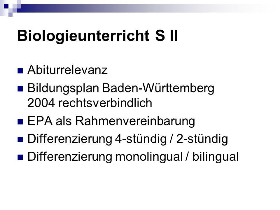 Biologieunterricht S II