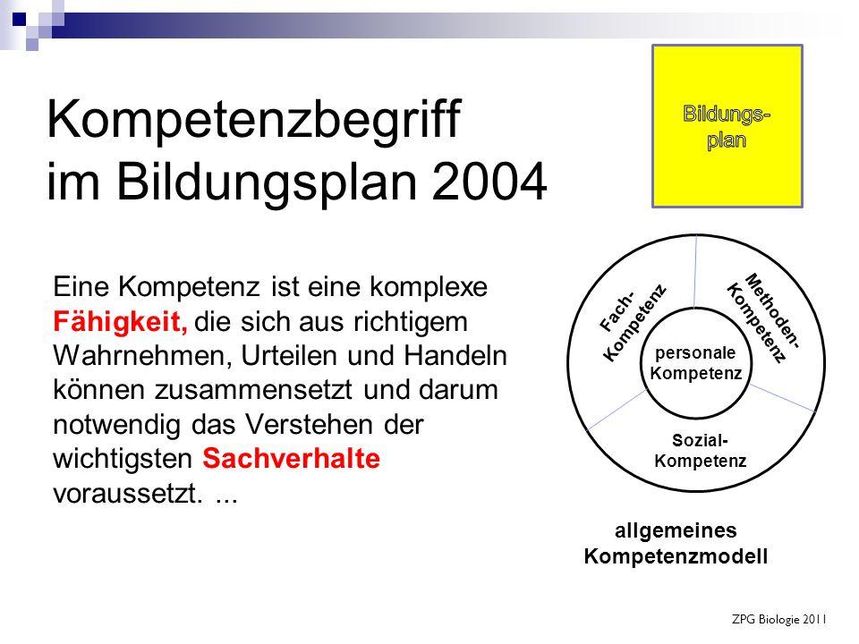 Kompetenzbegriff im Bildungsplan 2004