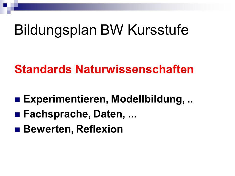 Bildungsplan BW Kursstufe