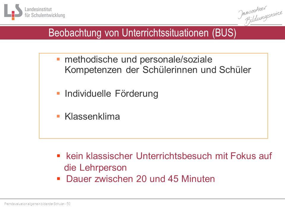 Beobachtung von Unterrichtssituationen (BUS)