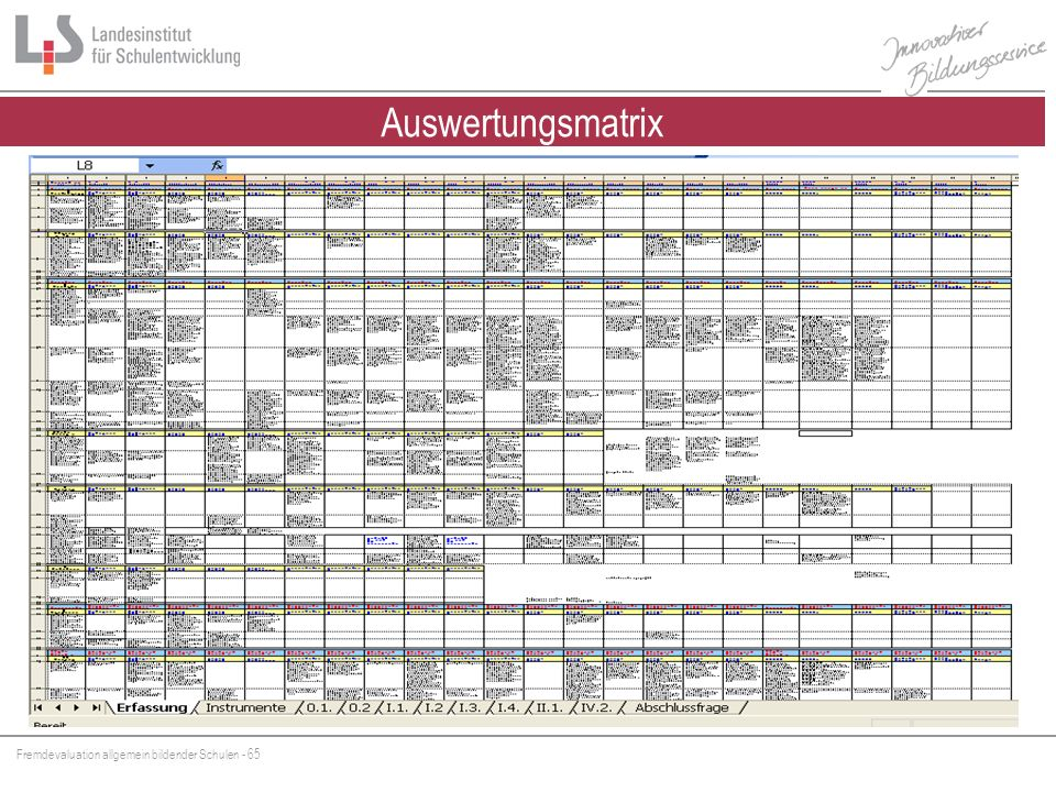 Auswertungsmatrix