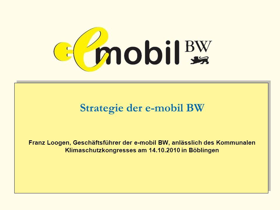Strategie der e-mobil BW