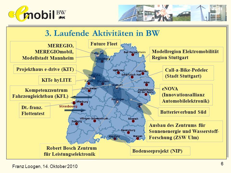 3. Laufende Aktivitäten in BW