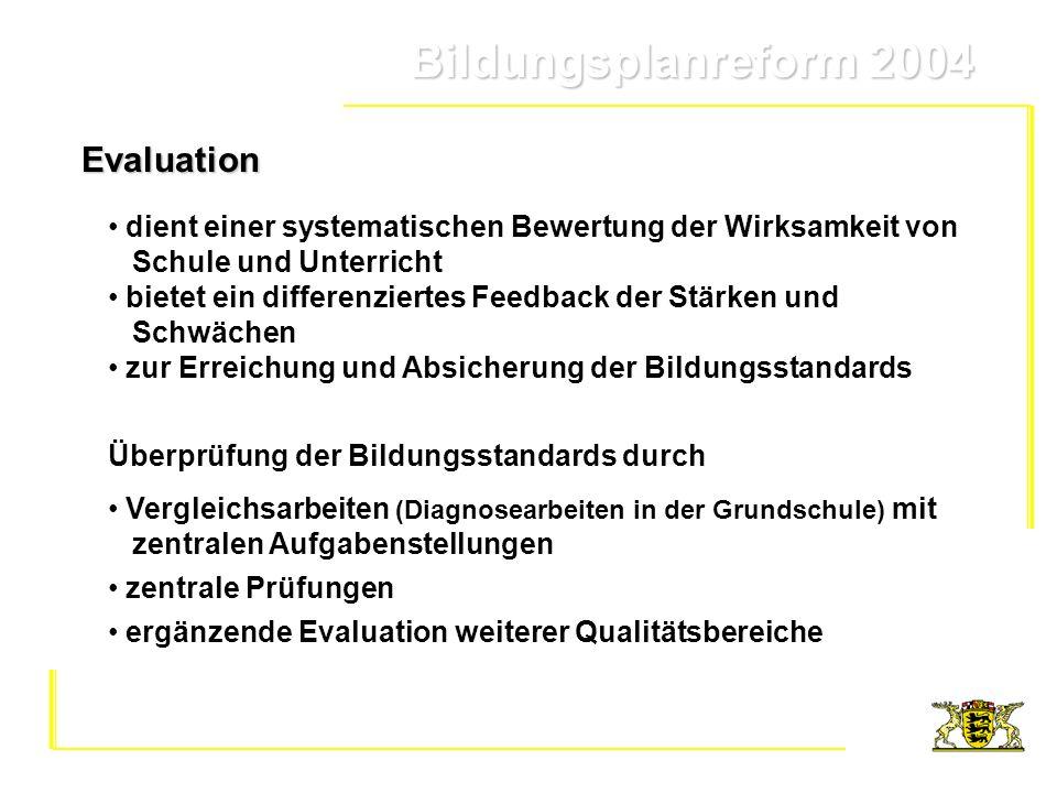 Evaluation dient einer systematischen Bewertung der Wirksamkeit von Schule und Unterricht.