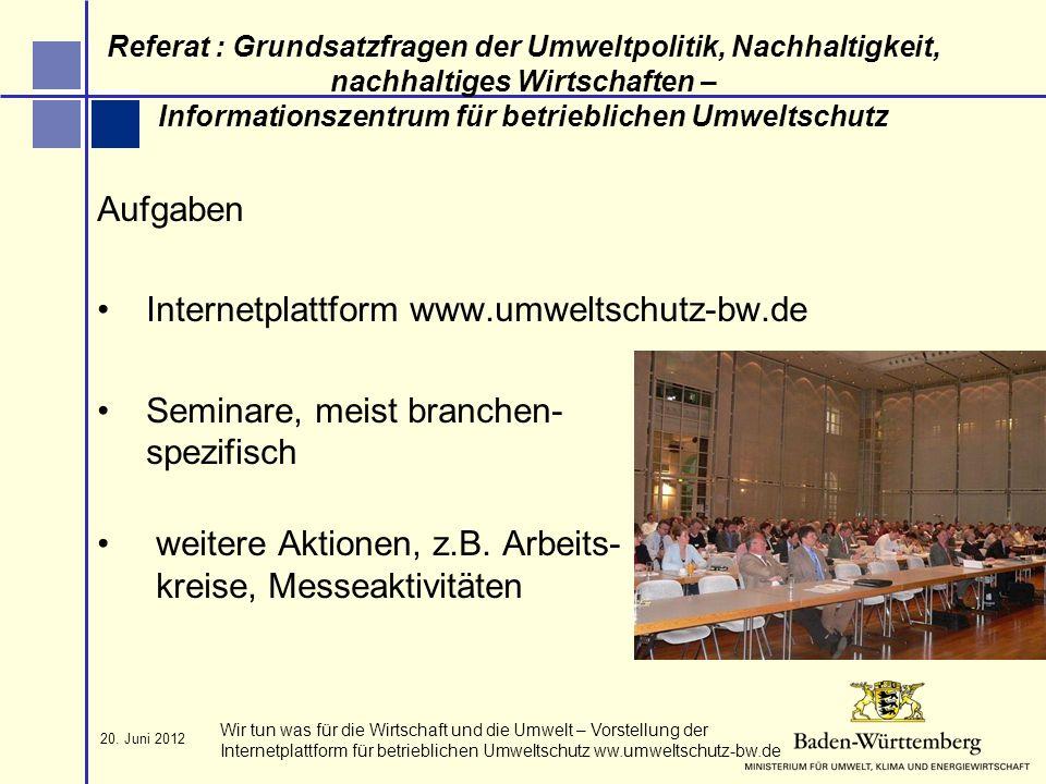 Internetplattform www.umweltschutz-bw.de