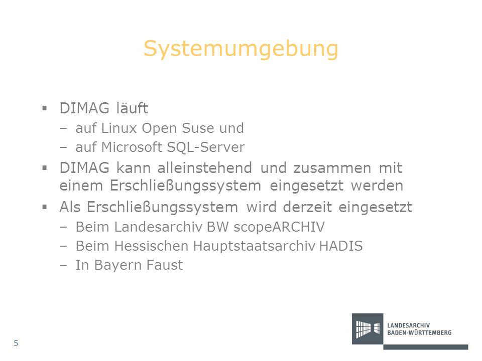 Systemumgebung DIMAG läuft