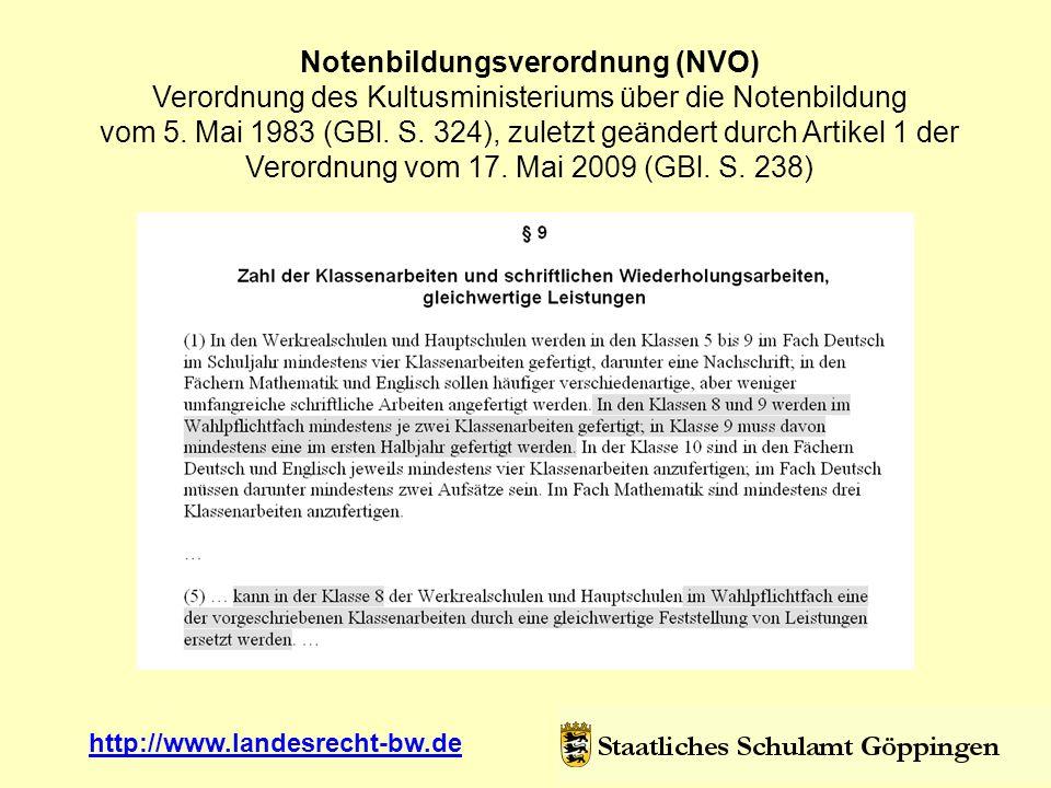 Notenbildungsverordnung (NVO)