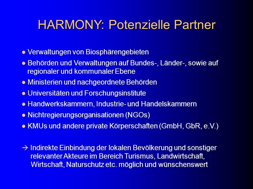 HARMONY: Potenzielle Partner