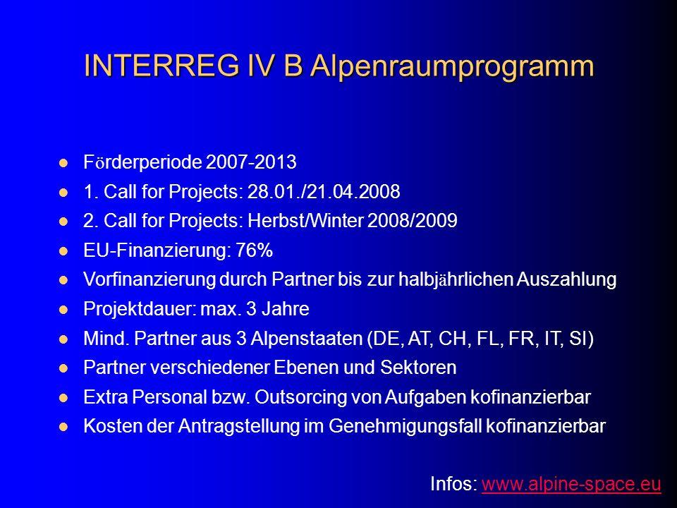 INTERREG IV B Alpenraumprogramm