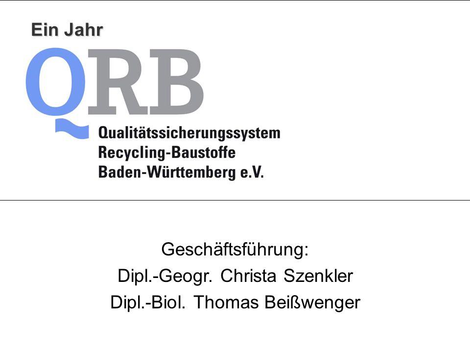 Dipl.-Geogr. Christa Szenkler Dipl.-Biol. Thomas Beißwenger