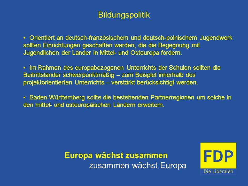 Europa wächst zusammen zusammen wächst Europa